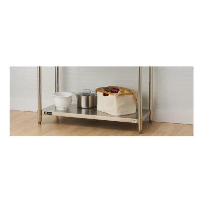 48 in. W x 17 in. D Individual NSF Stainless Steel Kitchen Utility Table Shelf