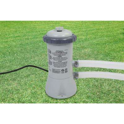 530 GPH Cartridge Filter Pump System for Intex Above Ground Pools
