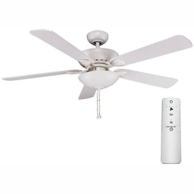 Connor 52 in. LED Matte White Smart Ceiling Fan with Light Kit and WINK Remote Control