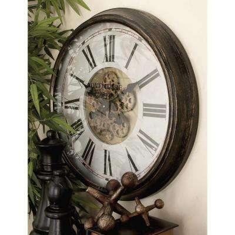 "24 in. Vintage ""Adventure Warrior"" Gear Wall Clock"