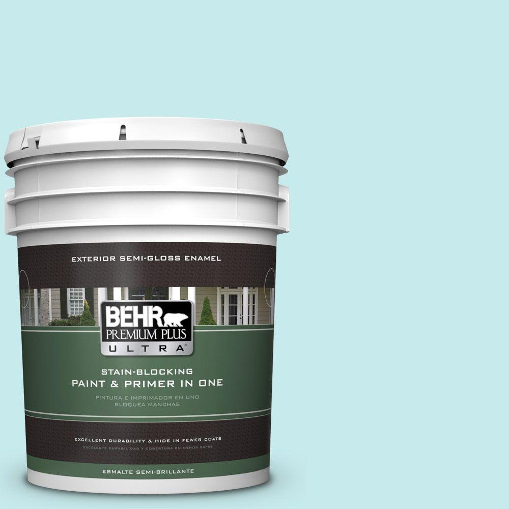 5-gal. #P460-1 Morning Sky Semi-Gloss Enamel Exterior Paint