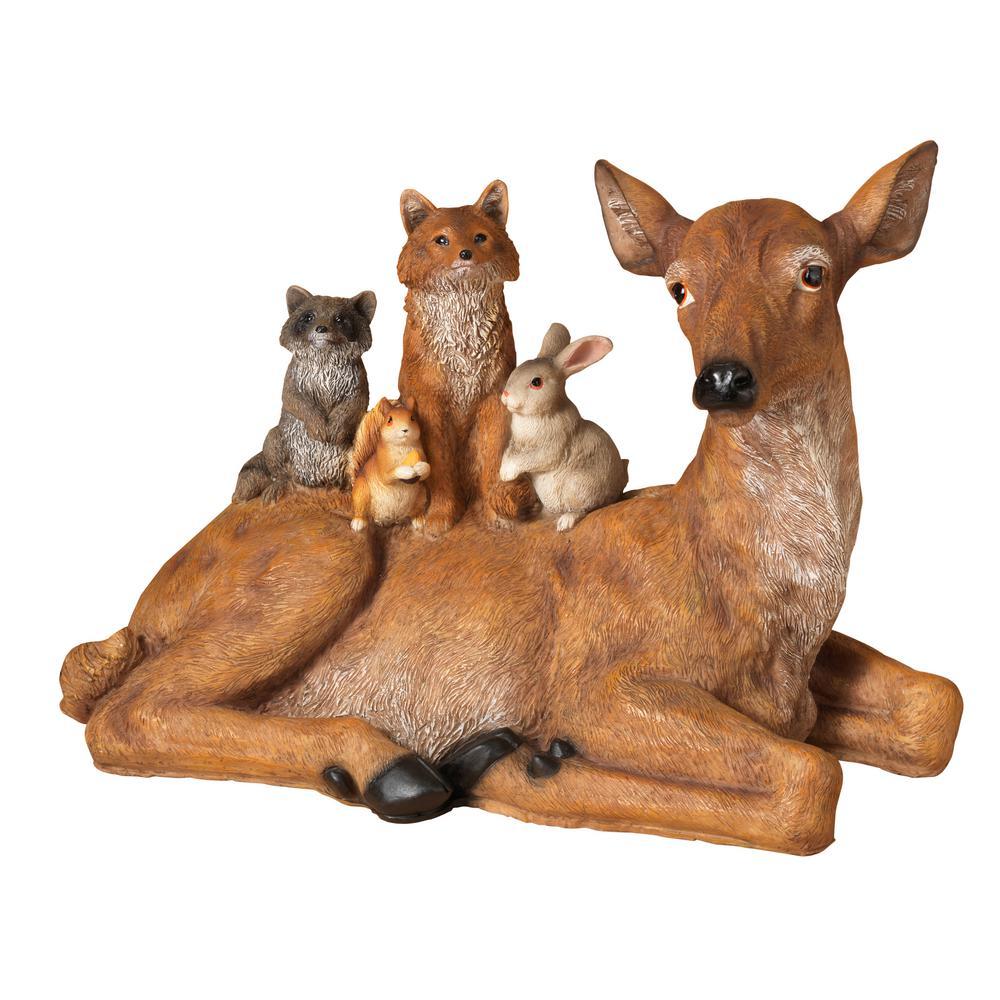 12.6 in. H Resin Deer Laying Down
