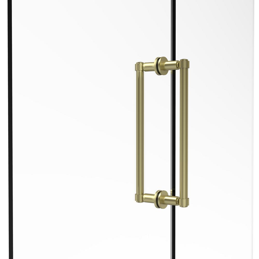 Allied Brass Contemporary 12 In. Back To Back Shower Door Pull In Satin