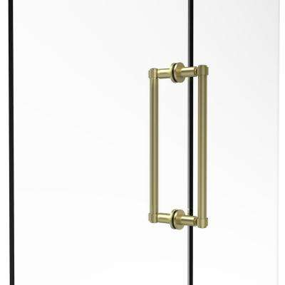 Contemporary 12 in. Back-to-Back Shower Door Pull in Satin Brass