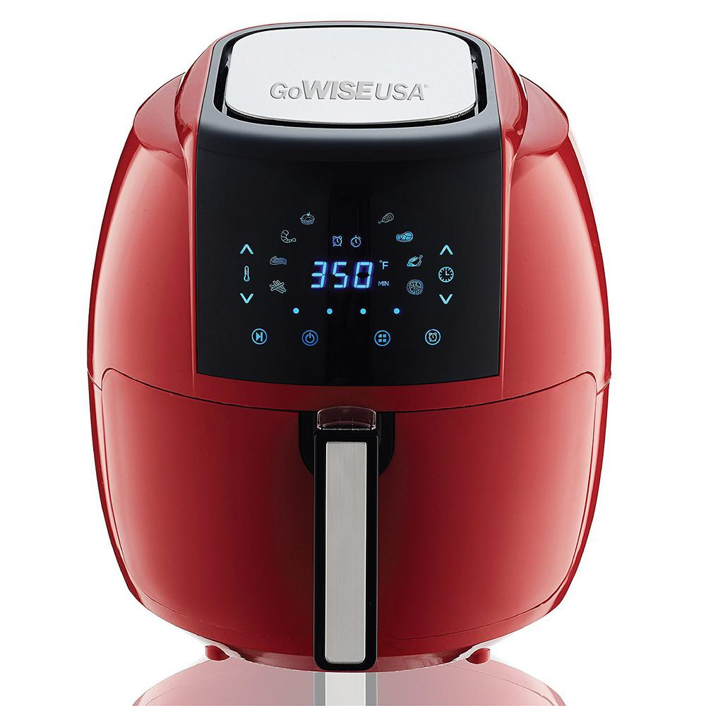 GoWISE USA 5.8 Qt. 8-in-1 Chili Red Electric Air Fryer