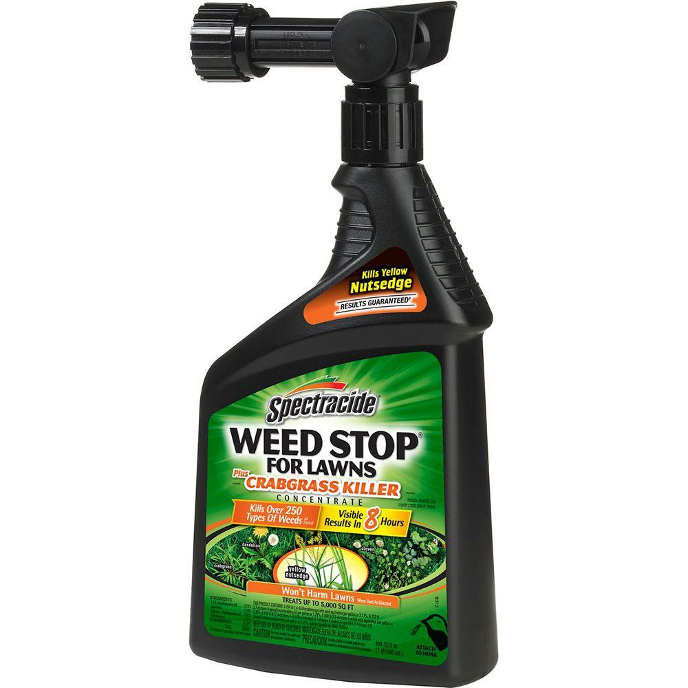 Spectracide Weed Stop 32 Oz Ready To Spray Concentrate For Lawns Plus Crabgrass Lawns Hg 95703