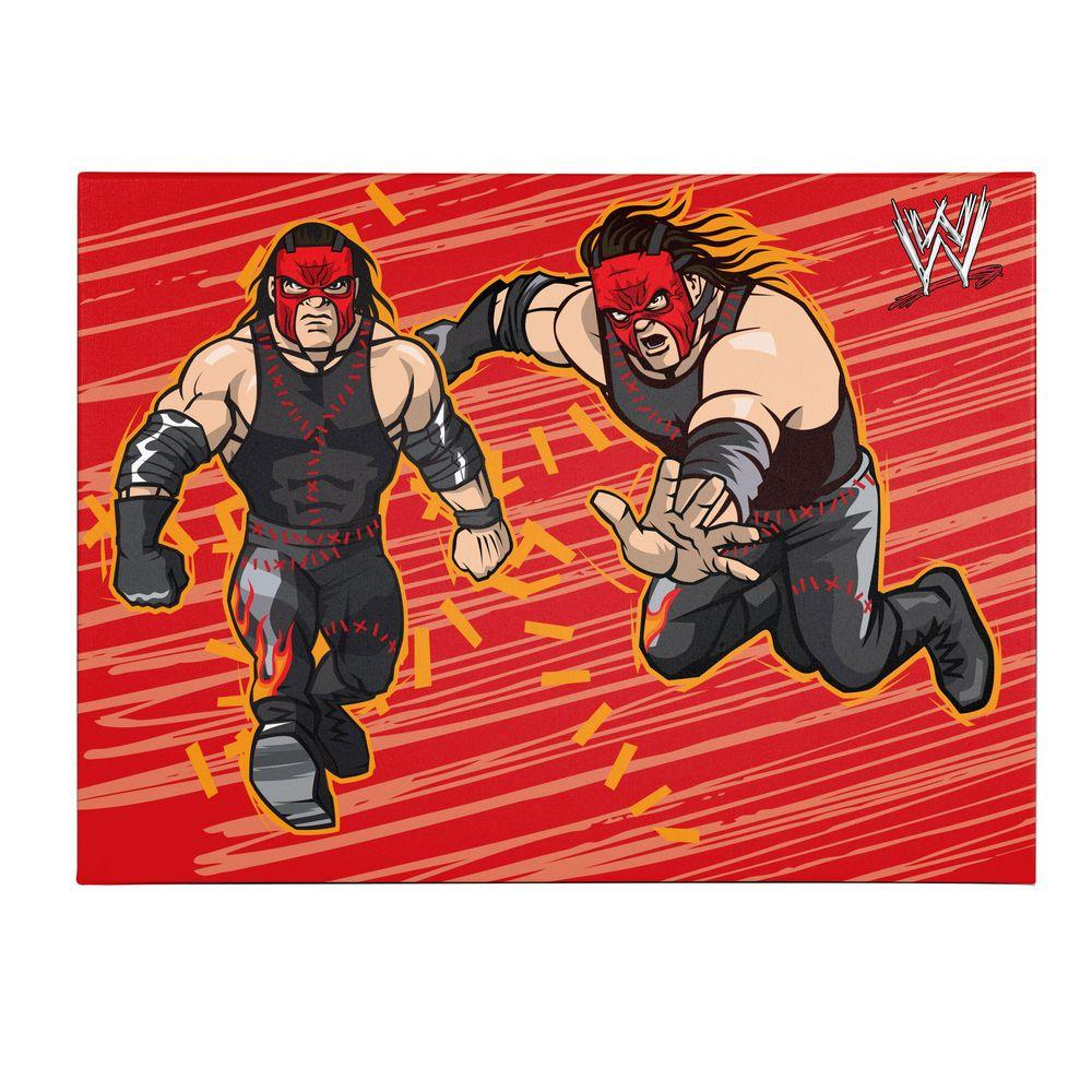 Trademark Fine Art 35 in. x 47 in. Officially Licensed Kane WWE Kids Canvas Art