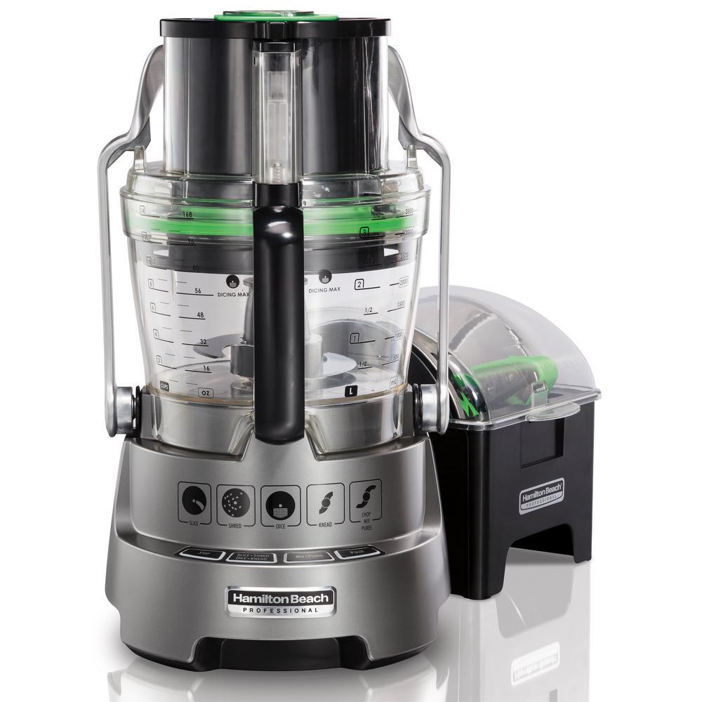 Professional 14 Cup Silver Dicing Food Processor