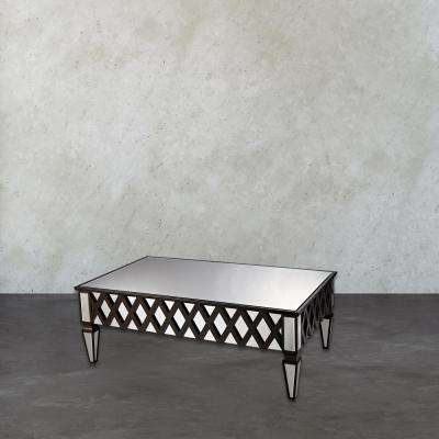London Mirrored Espresso Coffee Table