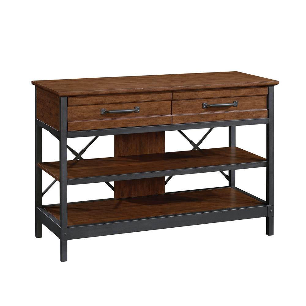 Strange Sauder Carson Forge Milled Cherry Console Table 422130 The Ncnpc Chair Design For Home Ncnpcorg