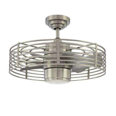 Enclave 23 in. Satin Nickel Ceiling Fan