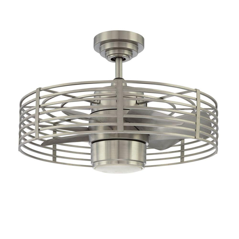 Designers Choice Collection Enclave 23 In. Satin Nickel Ceiling Fan AC17723 SN    The Home Depot