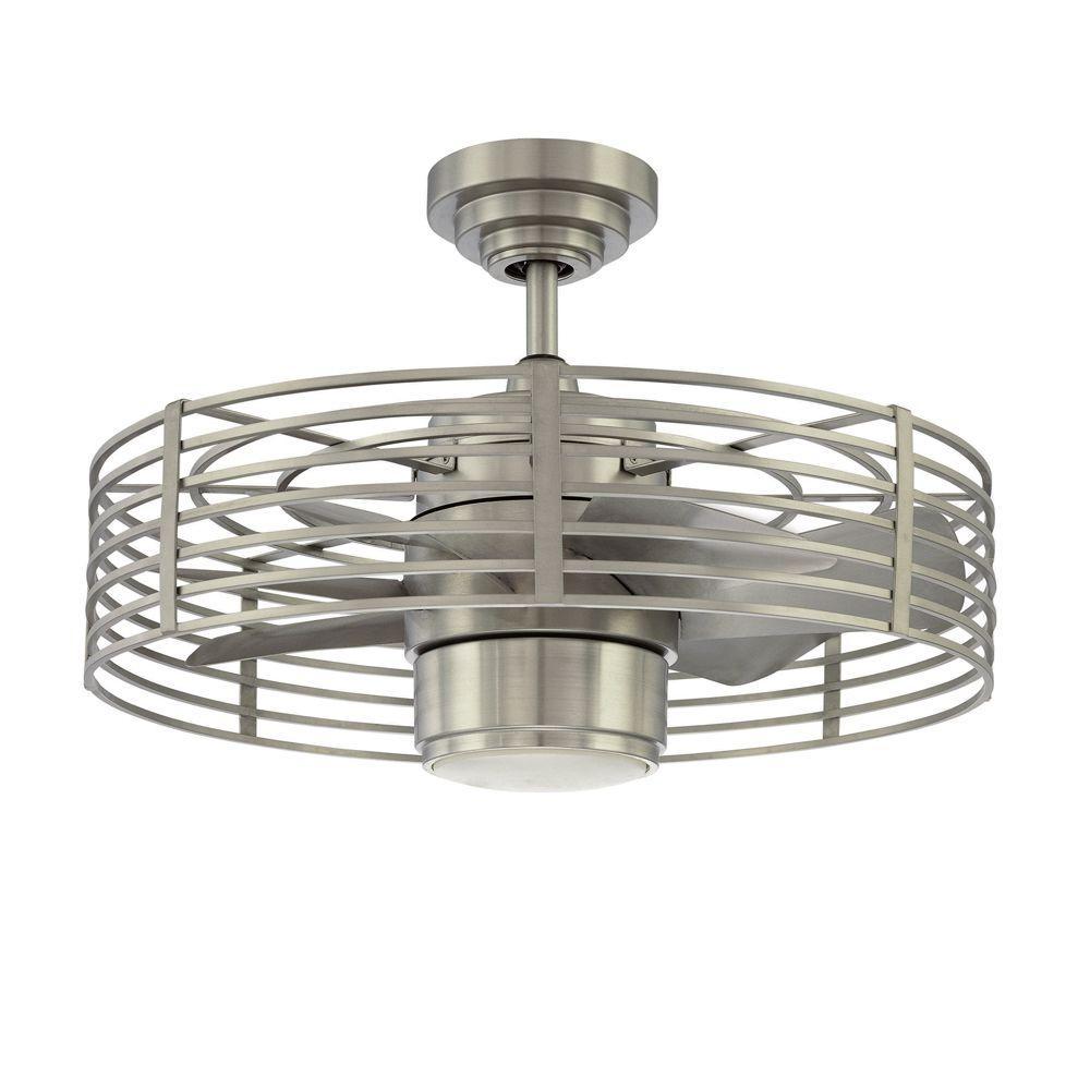 Enclave 23 in. Satin Nickel Ceiling Fan