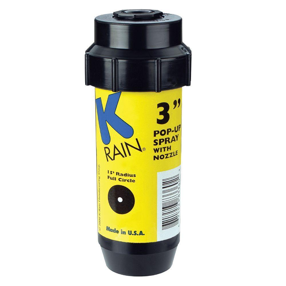 null 3 in. KSpray Pop-Up Sprinkler with Adjustable Pattern Nozzle