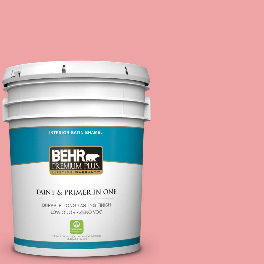 BEHR Premium Plus 5-gal. #P170-3 Infatuation Satin Enamel Interior Paint