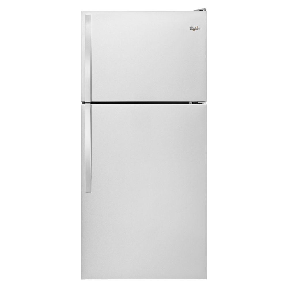Whirlpool 30 In W 18 2 Cu Ft Top Freezer Refrigerator