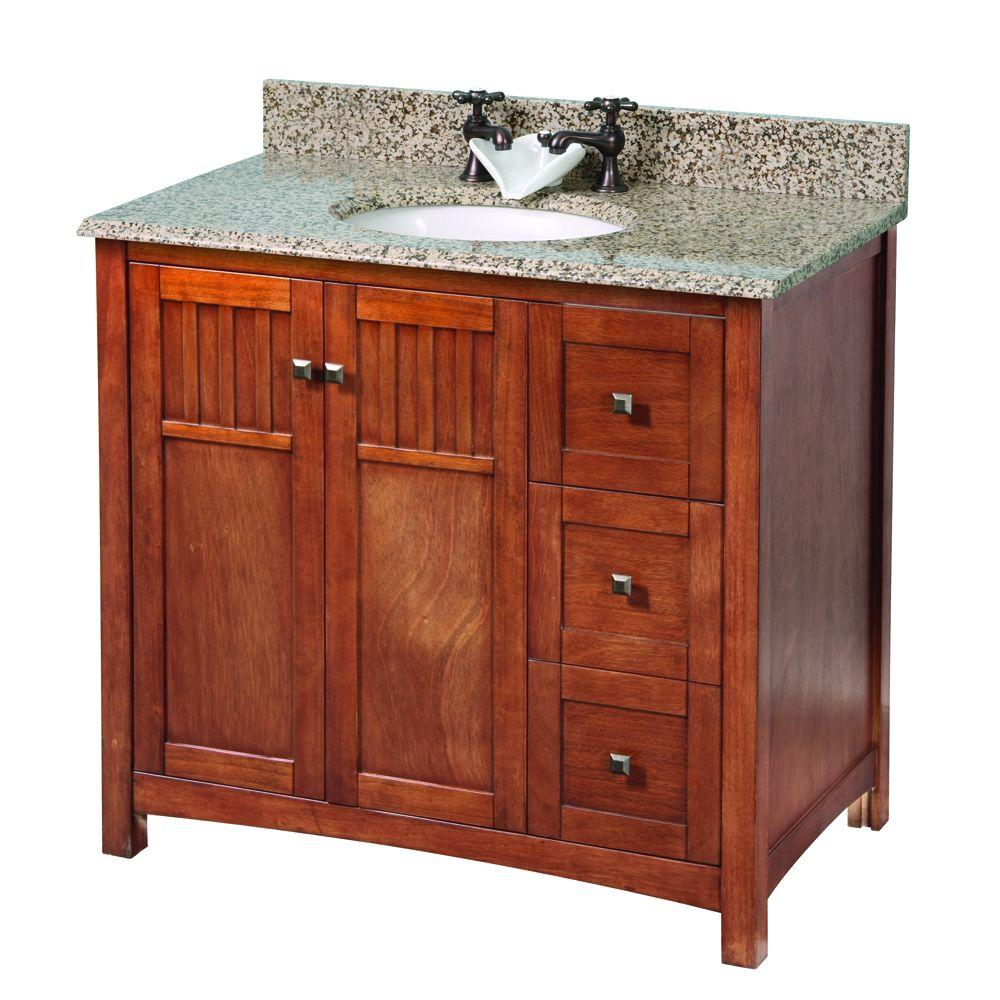 Foremost knoxville 37 in w x 22 in d vanity in nutmeg for Foremost home