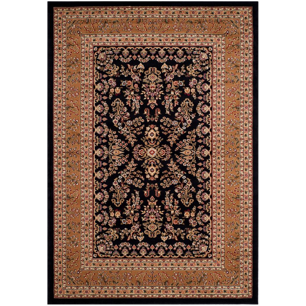 Lyndhurst Black/Tan 4 ft. x 6 ft. Area Rug
