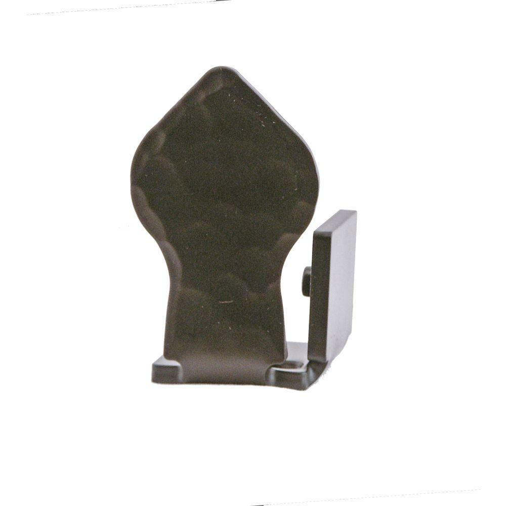 Quiet Glide 2-7/8 in. x 1-3/4 in. Spade Black Right End Floor Stop