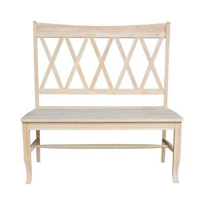 Superieur Double X Back Unfinished Solid Wood Bench