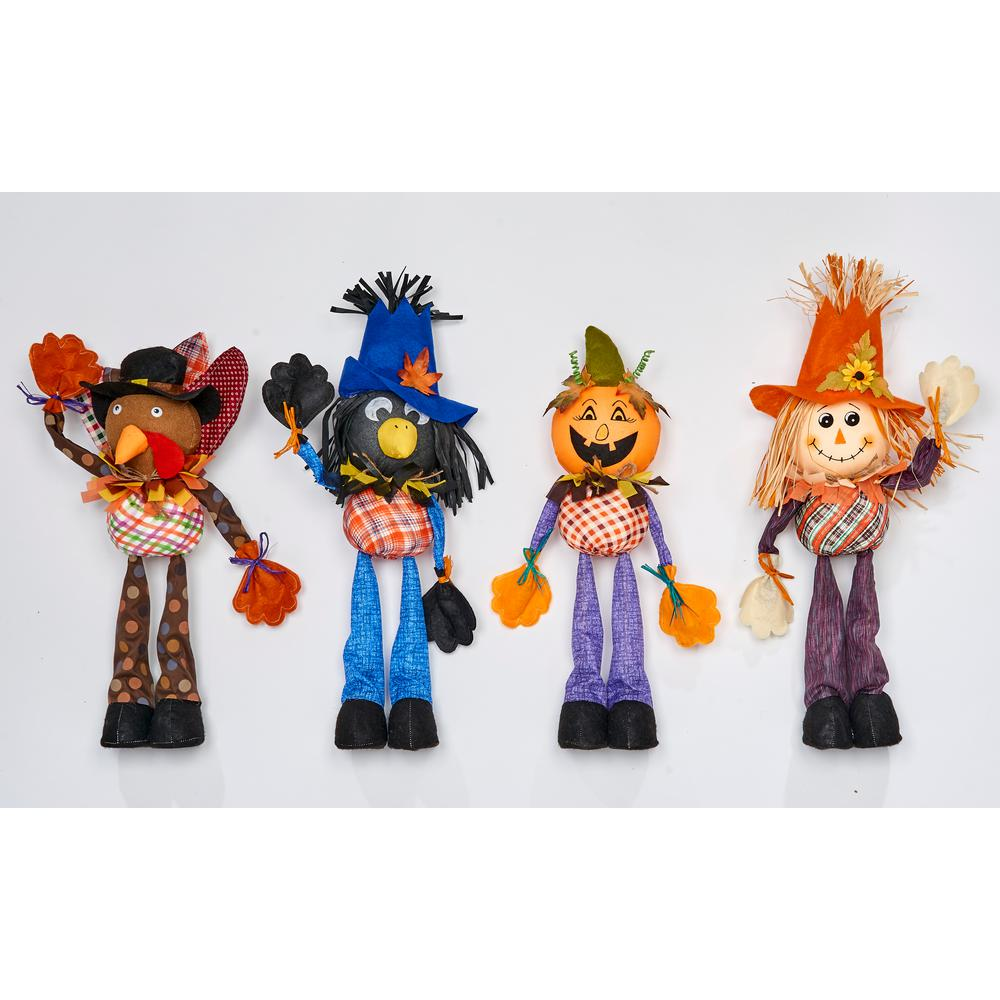 21 In Standing Scarecrow Set Of 4 2249 The Home Depot