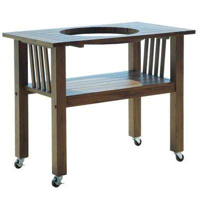 32 in. Antique Grey Table  with Kamado Grill