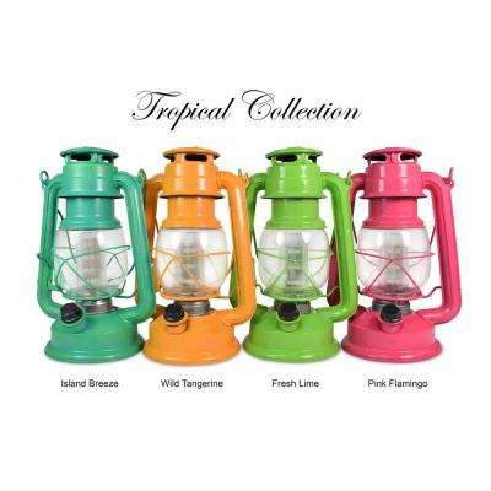 Tropical Collection Pink Flamingo LED Vintage Lantern