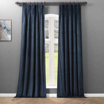 Blackout Signature Midnight Blue Pleated - 25 in. W x 96 in. L (1 Panel)