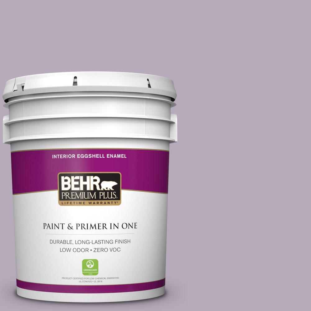 BEHR Premium Plus 5-gal. #HDC-SP14-12 Exclusive Violet Zero VOC Eggshell Enamel Interior Paint