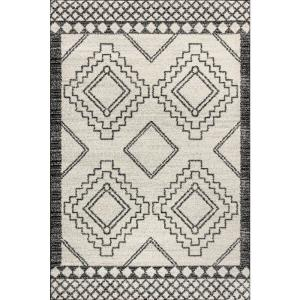 Amir Moroccan Beni Souk Cream/Black 5 ft. x 8 ft. Area Rug