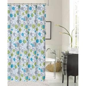 Blue Printed Shower Curtain BUBSCBL
