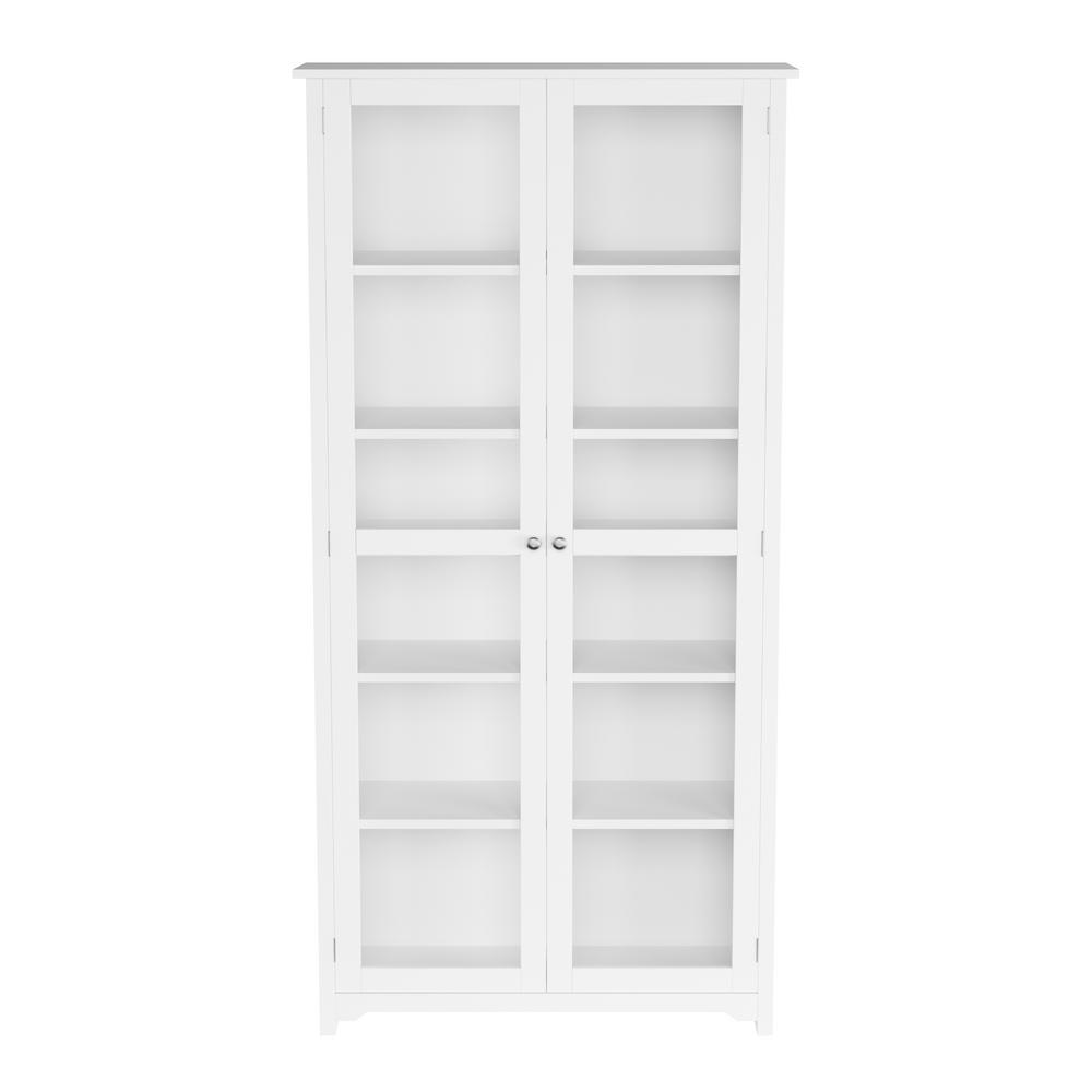 Home Decorators Collection Oxford White Gl Door Bookcase