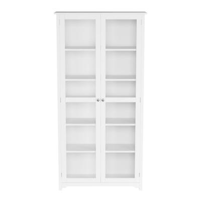 Oxford White Glass Door Bookcase