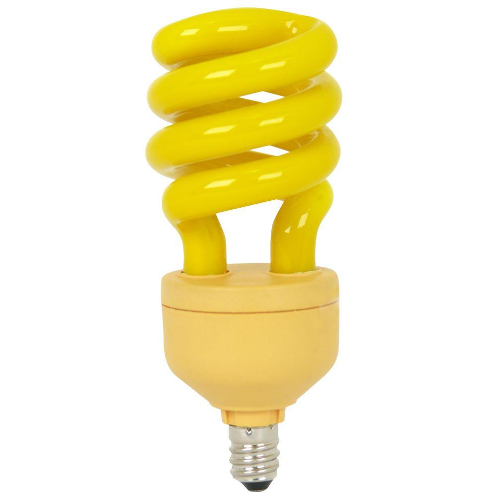 Feit Electric 60-Watt Equivalent T3 Spiral CFL Yellow Bug