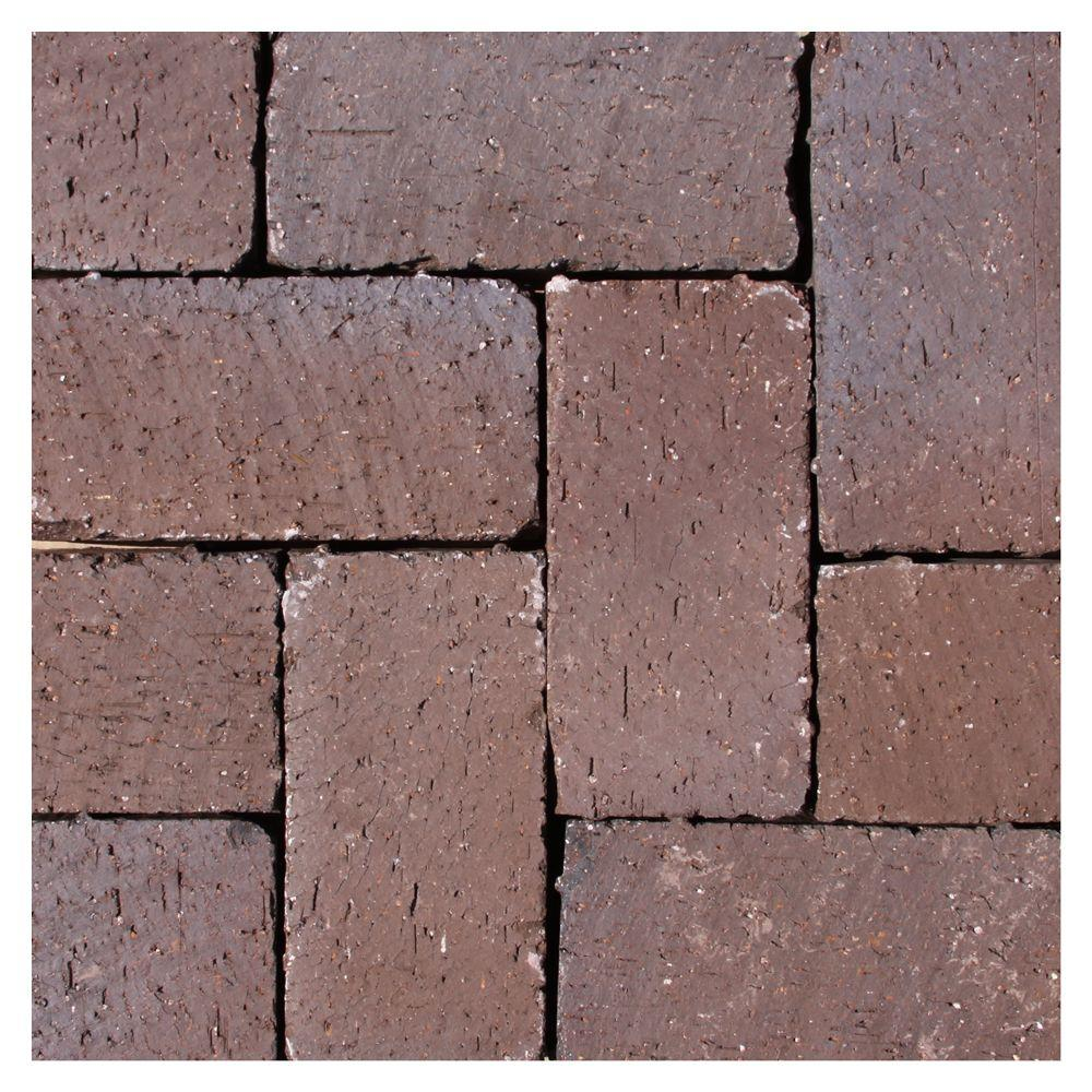 Thin Overlay Pavers Mission Split 8 Inx 4 Inx 1.63 Intumbled Clay Brown Flash