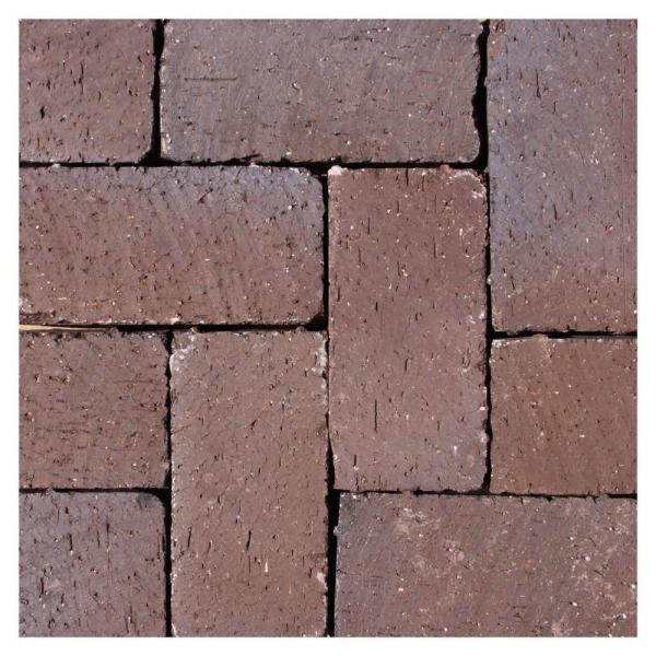 Mission Split 8 in. x 4 in. x 1.63 in. Tumbled Clay Brown Flash Paver