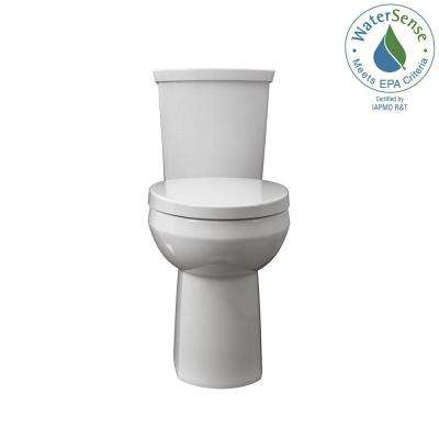Cadet Ultra Low 2-Piece 0.92/1.28 GPF Dual Flush Right Elongated Toilet in White