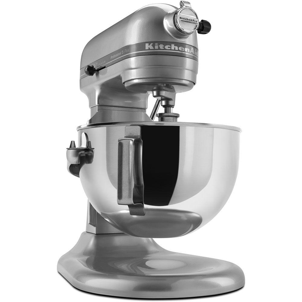 KitchenAid Professional 5 Plus Series 5 qt. Stand Mixer in Metallic Chrome-DISCONTINUED