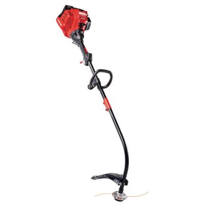 25 cc Gas 2-Cycle Curved Shaft Trimmer with Attachment Capabilities