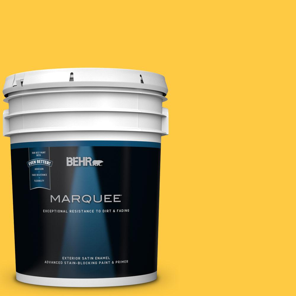 BEHR MARQUEE 5-gal. #P290-6 English Daisy Satin Enamel Exterior Paint