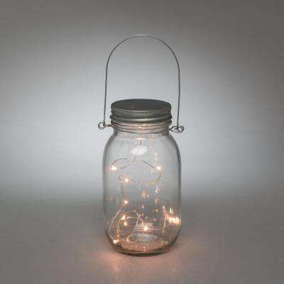 3.5 in. x 7 in. Clear LED Lighted Mason Jar
