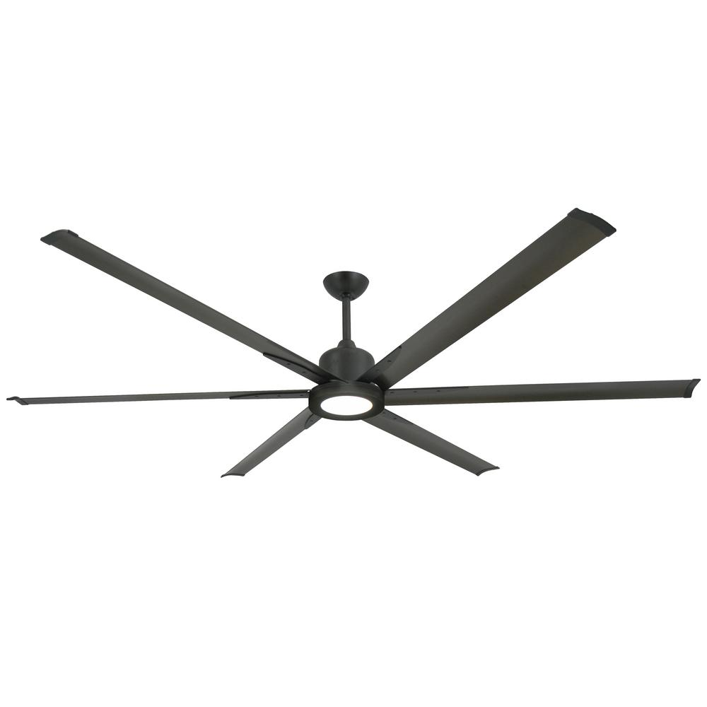 TroposAir Titan II 84 in. LED Indoor/Outdoor Oil Rubbed Bronze Ceiling Fan with Remote Control