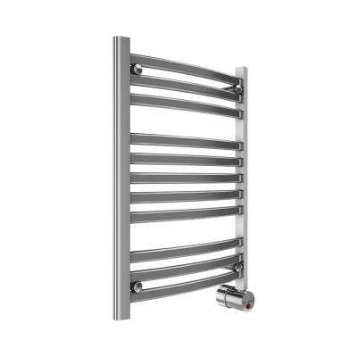11-Bar Wall Mounted Electric Towel Warmer with Digital Timer in Polished Chrome