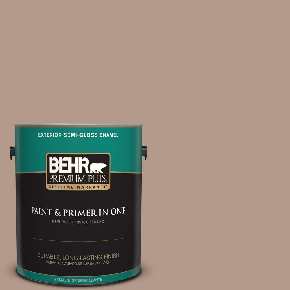 1-gal. #PMD-77 Rich Taupe Semi-Gloss Enamel Exterior Paint