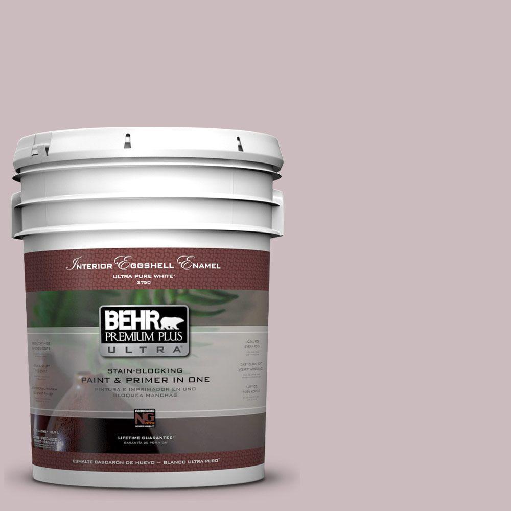 BEHR Premium Plus Ultra 5-gal. #100E-3 Pastel Violet Eggshell Enamel Interior Paint
