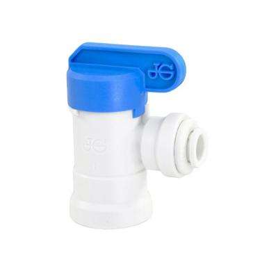 APEC Tank Ball Valve 1/4 in. NPTF 1/4 in. Output for Reverse Osmosis Storage Tank (Standard System with 3/4 Gal. Tank)