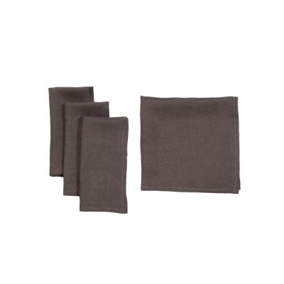 0.1 in. H x 20 in. W x 20 in. D Classic Linen Napkins Dark Gray (Set of 4)