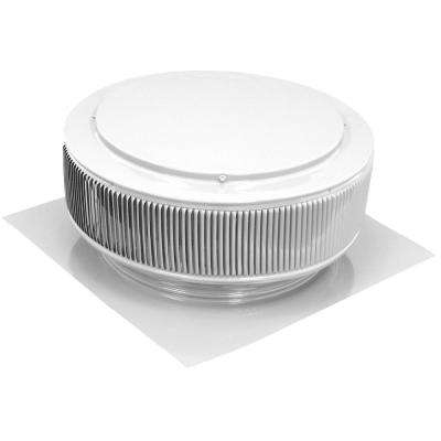 ba26a528fed 14 in. White Powder Coated Aluminum Static Roof Vent No Moving Parts Wind  Turbine