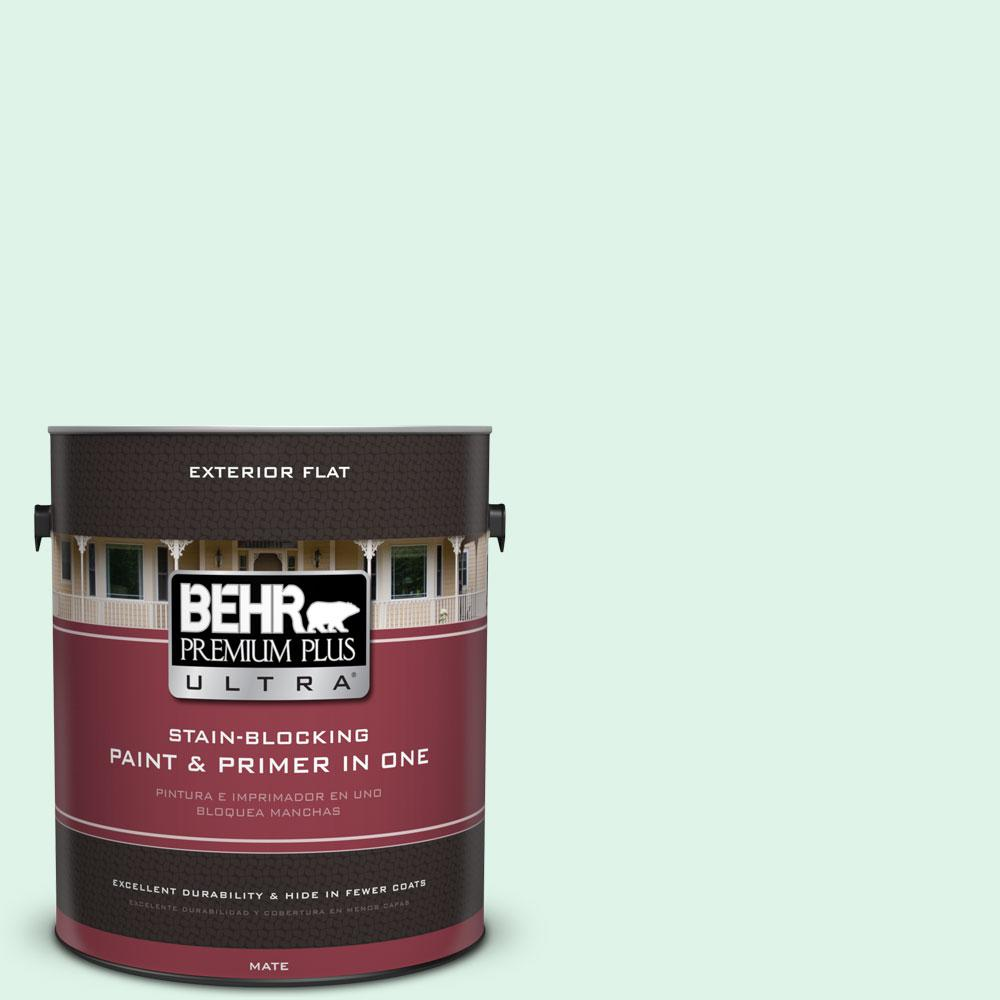 BEHR Premium Plus Ultra 1-gal. #470A-1 Window Pane Flat Exterior Paint