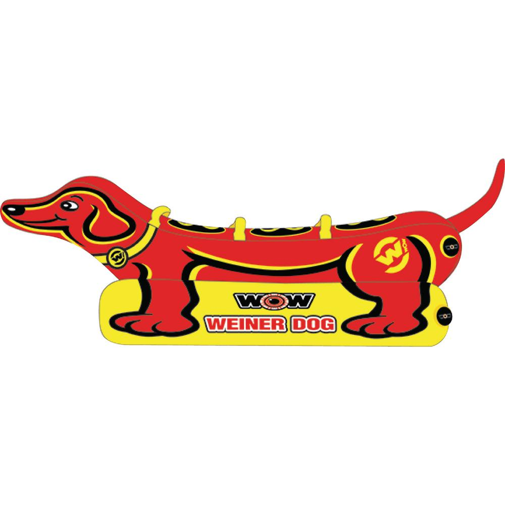 WOW Weiner Dog Towable for 1-Rider to 3-Riders